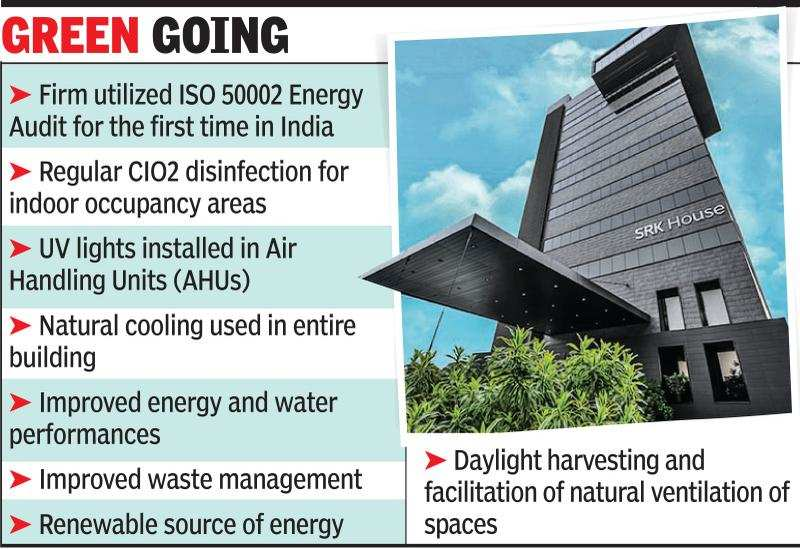 Top green bldg tag for Surat diamond firm | Surat News - Times of India