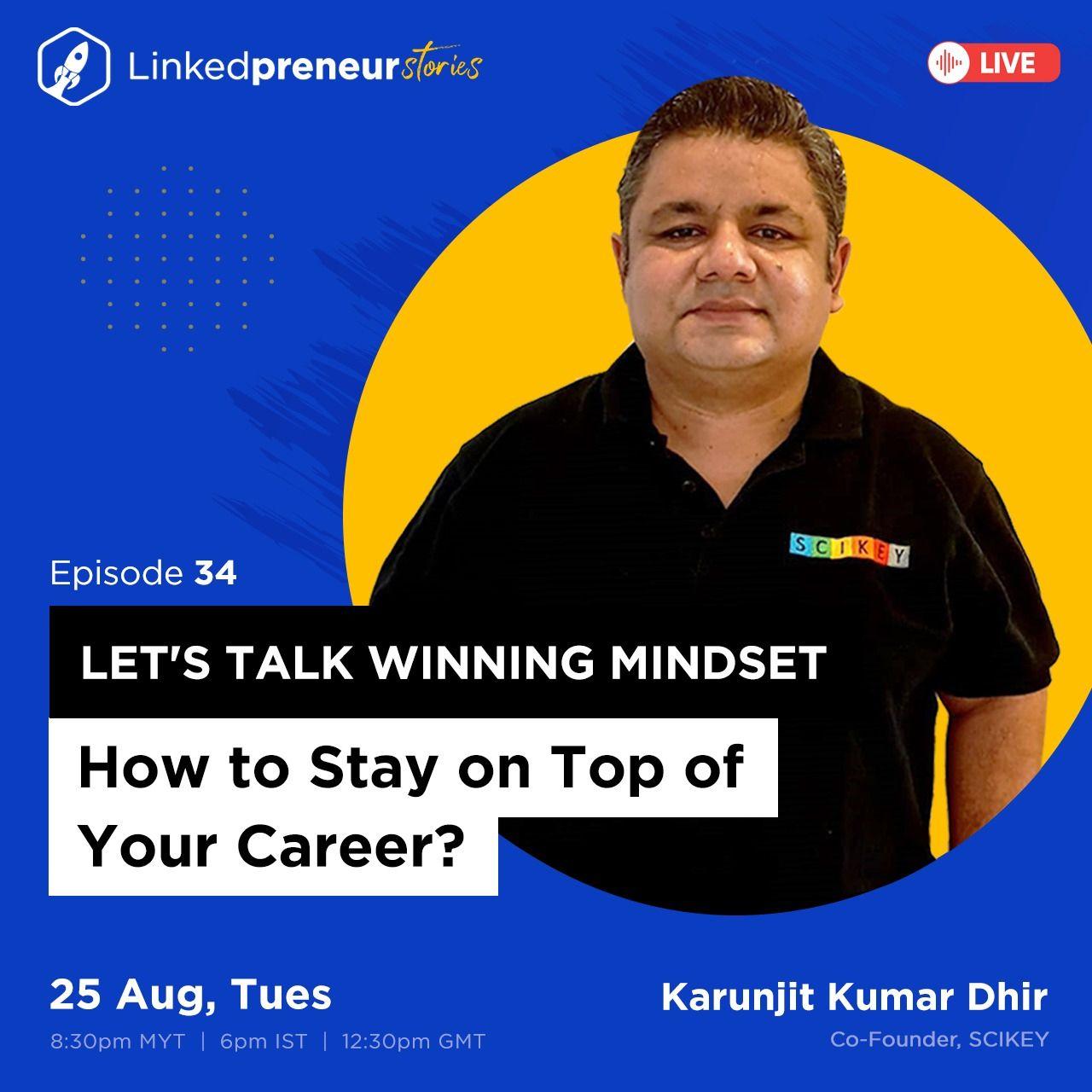 Karunjit Kumar Dhir on LinkedIn: #Linkedpreneur | 19 comments