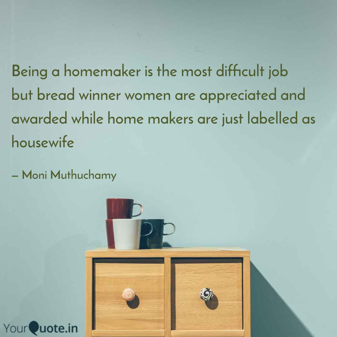 "It's time to name ""Homemaker"" a Full Time Job"