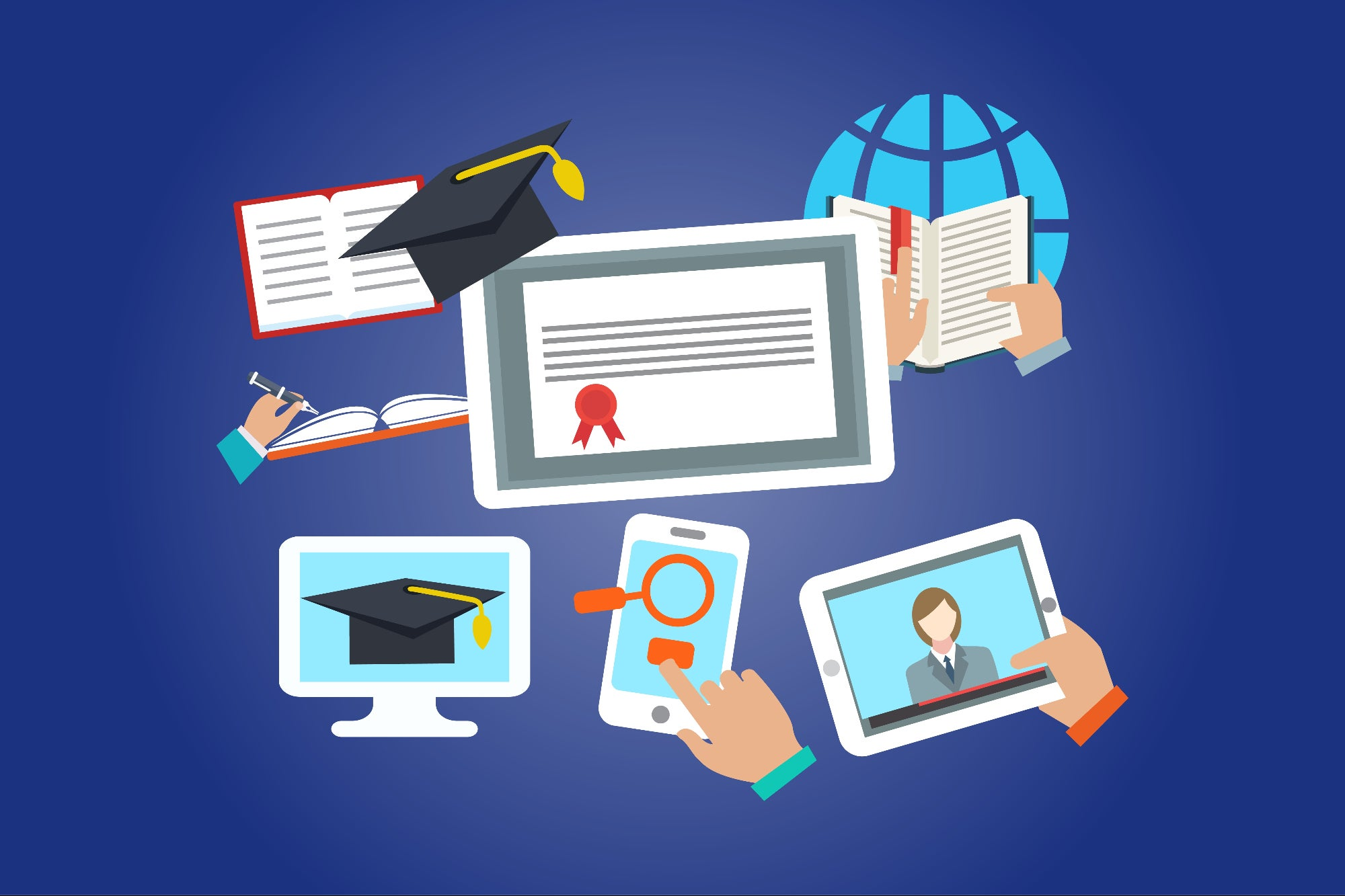 The hybrid education system: Accepting the new form of education system